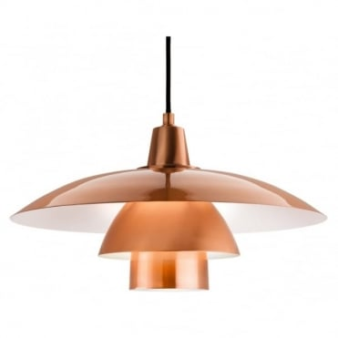 OLSEN Pendant, Brushed Copper