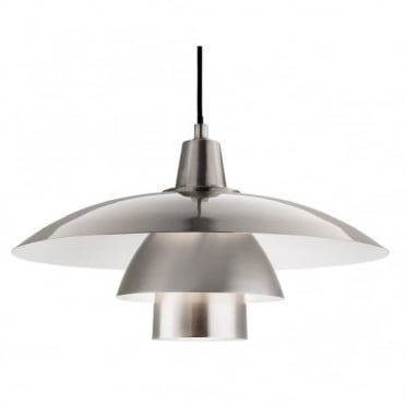 OLSEN Pendant, Brushed Steel