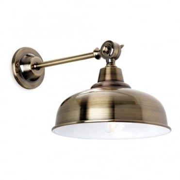 PRESTON - Wall Light Antique Brass