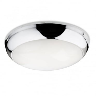 REGIS LED Flush Fitting, Chrome Polycarbonate with Opal Diffuser