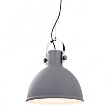 VIDA - Pendant Concrete With Chrome Trim