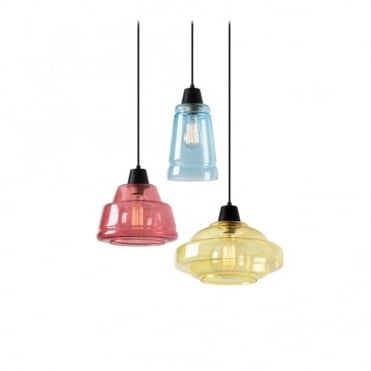 COLOR - 3 X E27 Max.60W Matte Black Ceiling Pendant