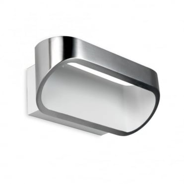 OVAL - Contemporary LED Wall Washer Light Polished Aluminium