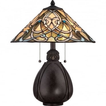 TIFFANY - Collectibles Table Lamp in Multi Colour, Bronze