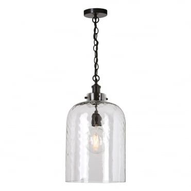 TIGODA 1 Light Pendant Dark Bronze Dimp LED Glass