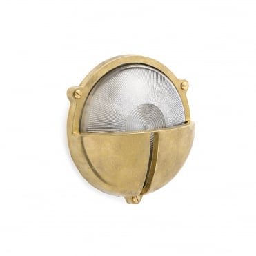 TIMON Brass and Glass Exterior Wall Light