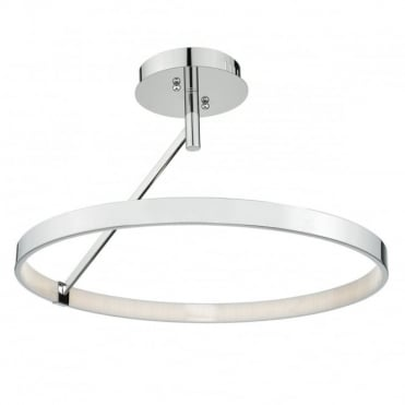 TIVOLI - LED Semi Flush Polished Chrome LED Dimmable Polished Chrome
