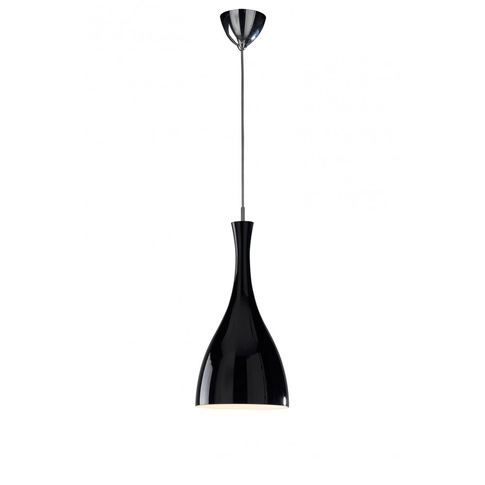 Contemporary Ceiling Pendant Light In Black Finish Great Over Tables