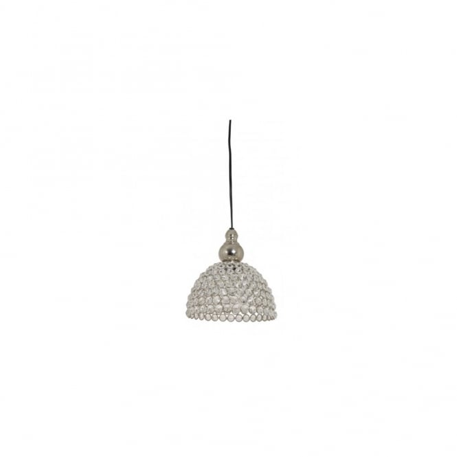 ELLY - Nickel/Crystal Hanging Lamp 19X19Cm E14