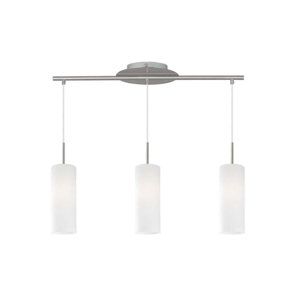 Nickel White Glass Light Cylinder Ceiling Bar Lighting Lights Uk