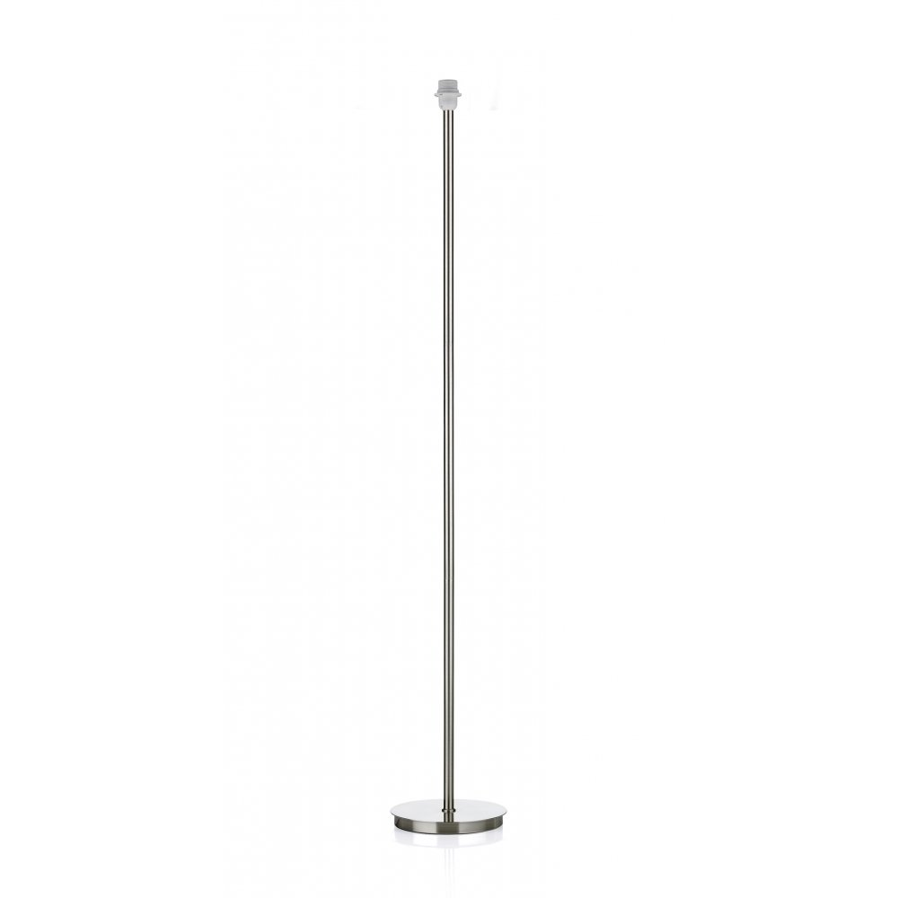 Tuscan Standard Satin Chrome Floor Lamp Base - Switched & Class 2