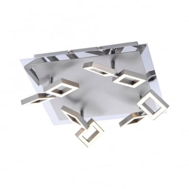 TWINS - LED Ceiling Light Steel in Stainless Steel