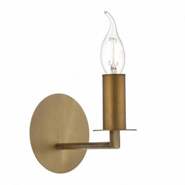 TYLER - Single Bronze Wall Light , Switched