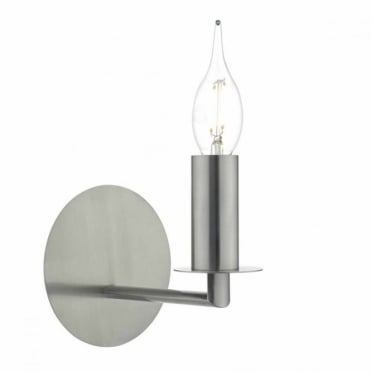 TYLER - Single Satin Nickel Wall Light , Switched