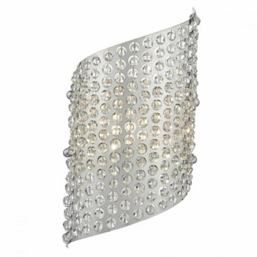 TYRESE - Polished Chrome and Crystal Bead Wall Light , Switched