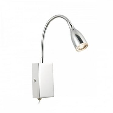 UNO - LED LED Flexi Reading Light Polished Chrome Plug In , Switched
