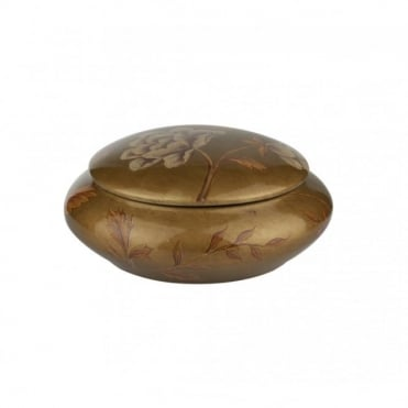 URSULA - Small Gold Ceramic Trinket Box