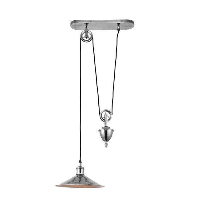 VICTORIA Rise & Fall Ceiling Pendant Antique Silver