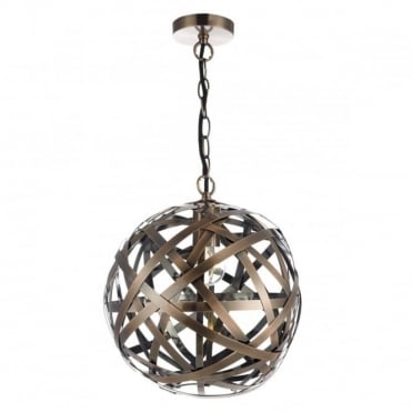 VOYAGE - 1 Light Ceiling Pendant Ball Antique Copper