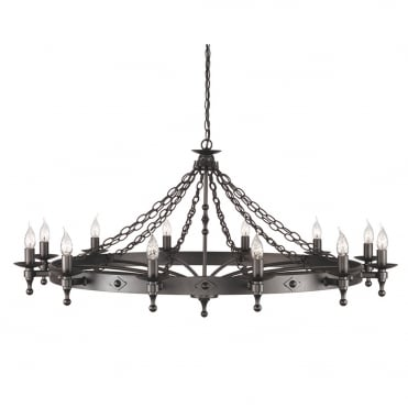 WARWICK 1.2m Diameter Extra Large Medieval Style Chandelier