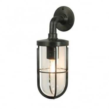 WEATHERPROOF - Ship'S Well Glass 7207 Wall Light Weathered Brass Clear Glass E27