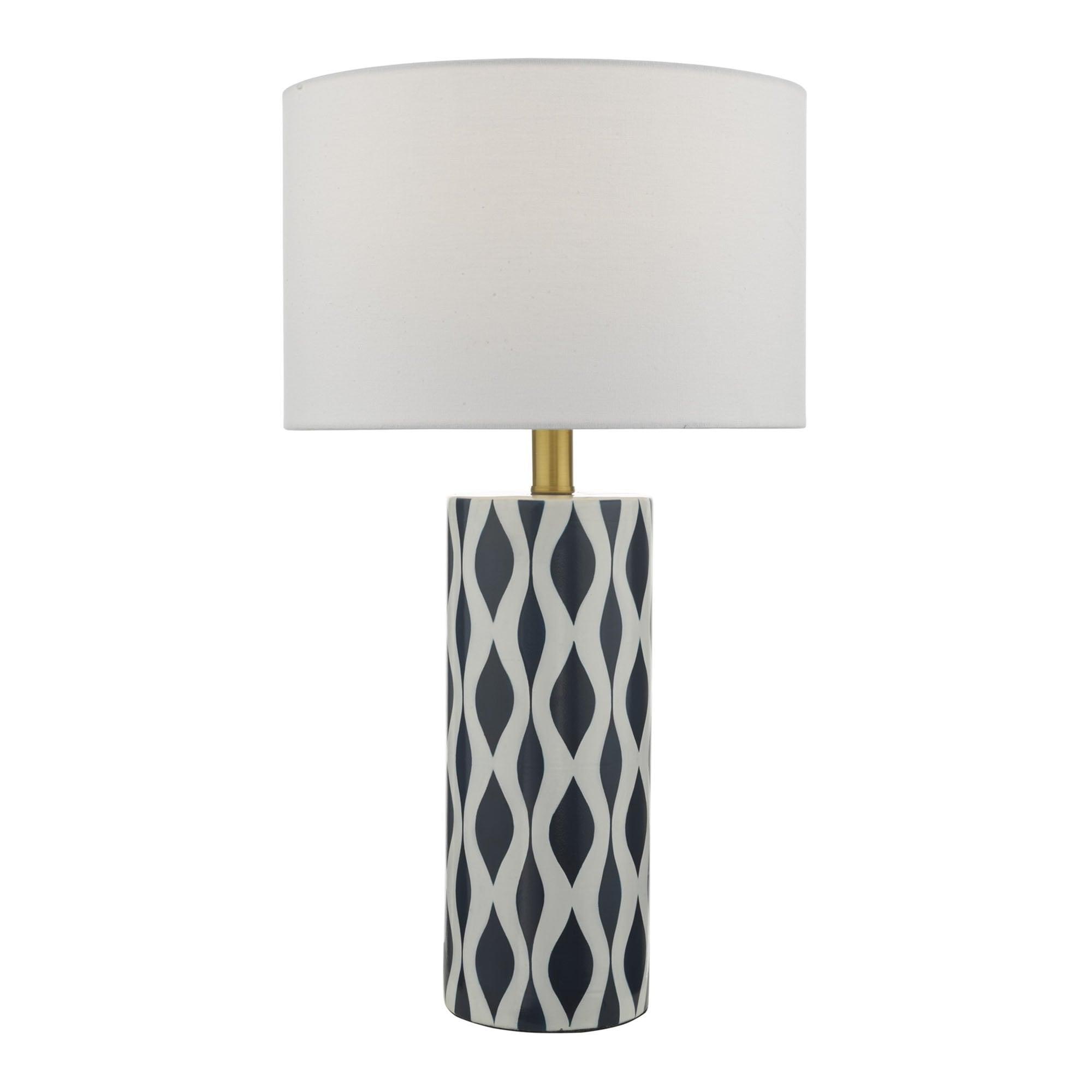 Weylin Table Lamp Blue White Ceramic Lamp Shade Lighting Lights
