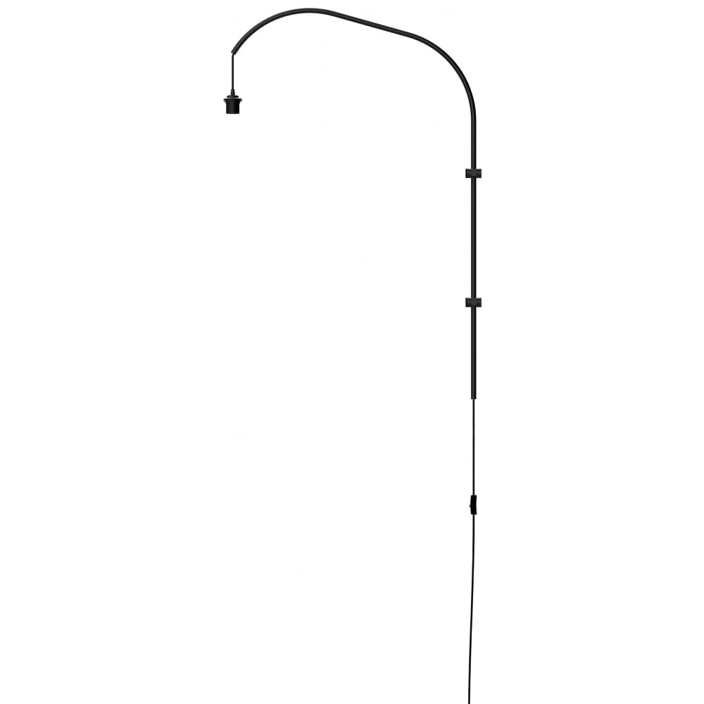 Willow single wall hanger pendant black with switch and plug mozeypictures Image collections
