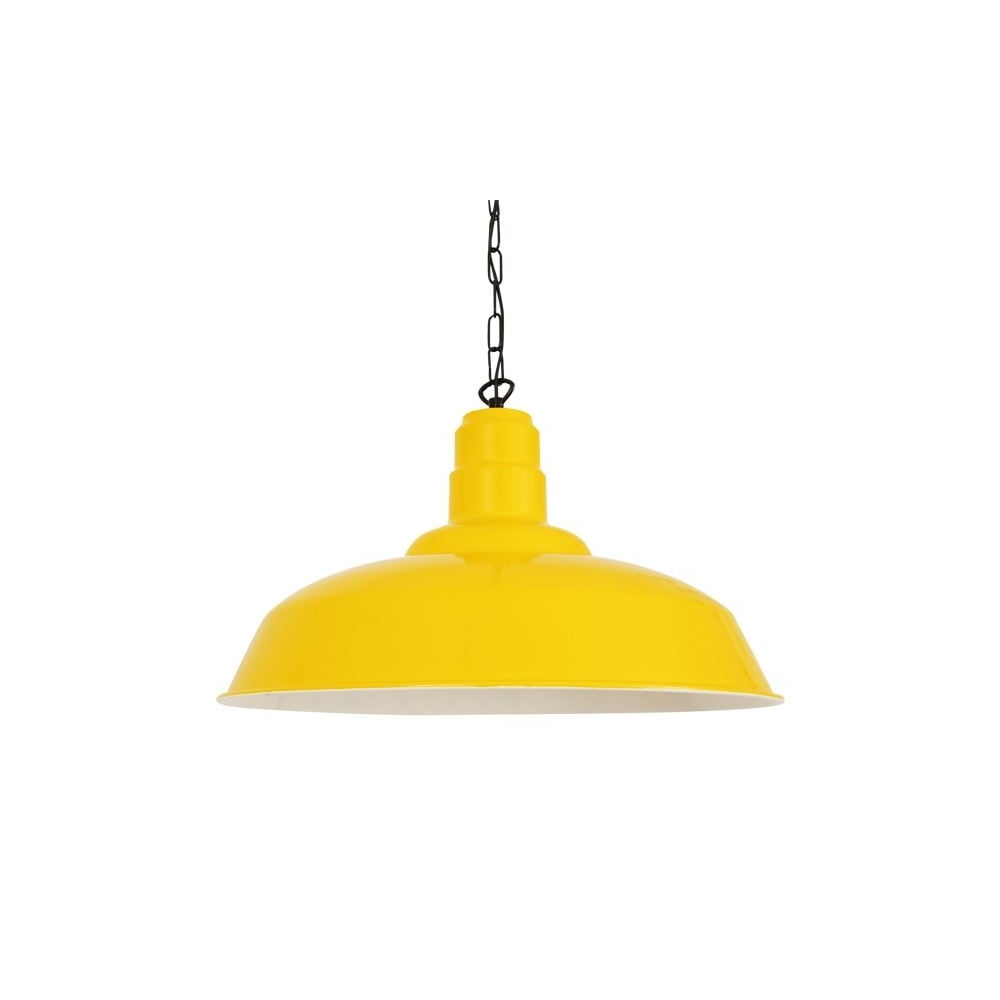 Yellow White Aluminium Factory Pendant
