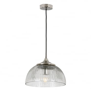 YAMBOL 1 Light Pendant Nickel Clear