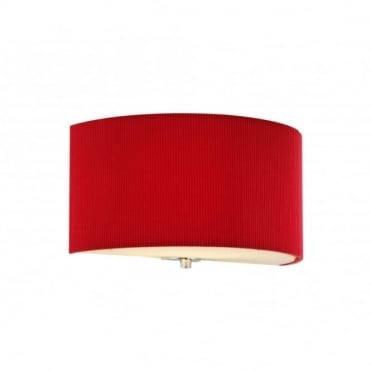 ZARAGOZA - Red Semicircular Wall Washer Wall Light , Switched